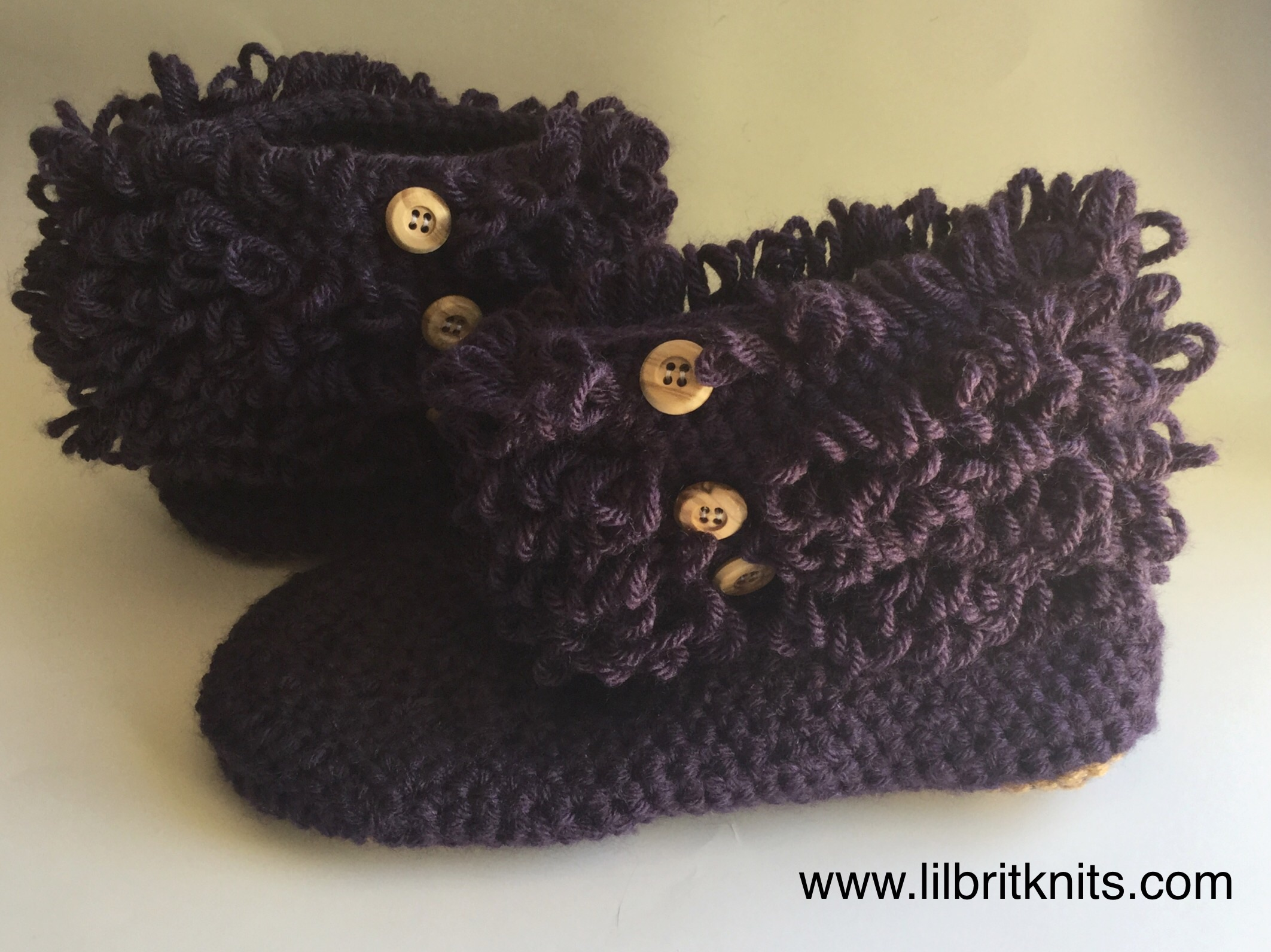 Loopy booties slippers for women